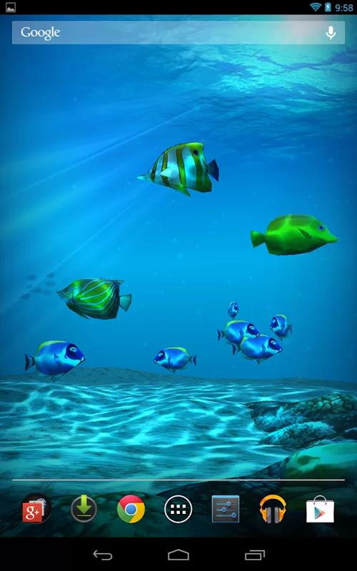 Живые обои подводный мир для дроид