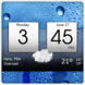 Digital clock world weather widget