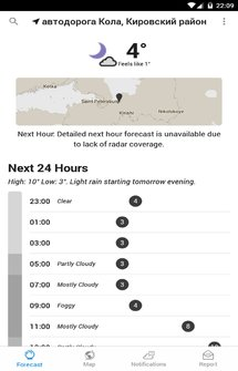 Dark Sky Hyperlocal Weather