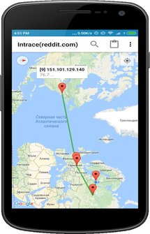Intrace: Visual traceroute