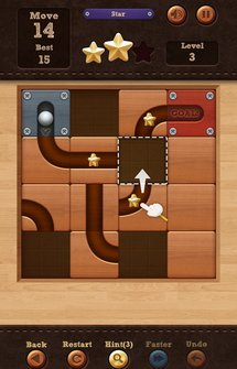 Игра  Roll the Ball: slide puzzle