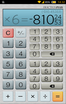 Калькулятор Fraction Calculator Plus на Андроид