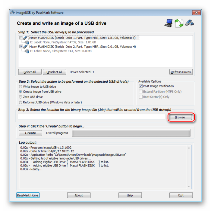 Passmark Image USB